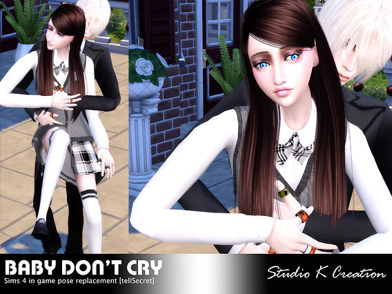 Baby Don't Cry Couples Poses at Studio K-Creation » Sims 4