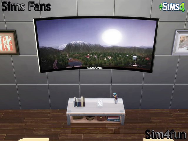 Simsung HD 4K Curved TV by Sim4fun at Sims Fans  Sims 4