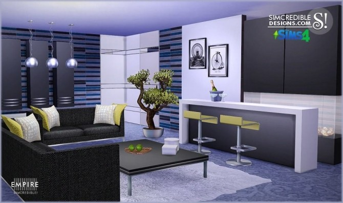SIMcredible Designs  Empire livingroom  Sims 4 Updates