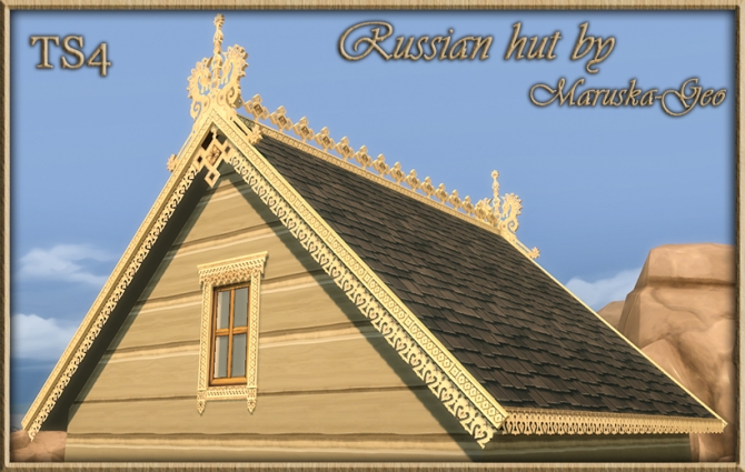 Russian hut Outdoor decor at MaruskaGeo  Sims 4 Updates