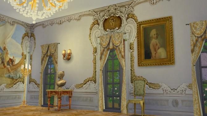 Villa Widmann Rococo Wall Mural Set at Regal Sims  Sims 4