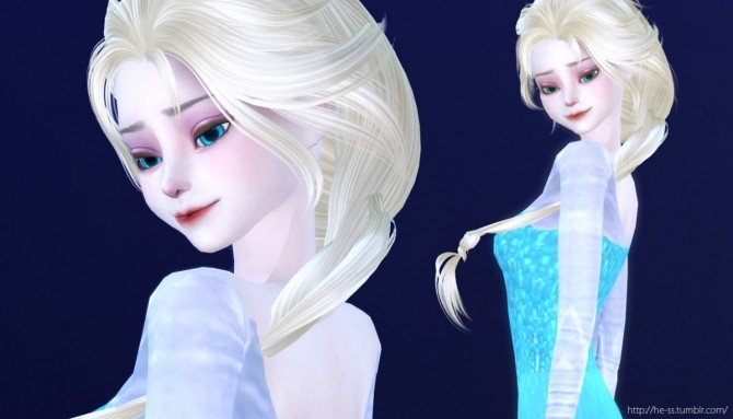 FROZEN ELSA poses at HESS  Sims 4 Updates
