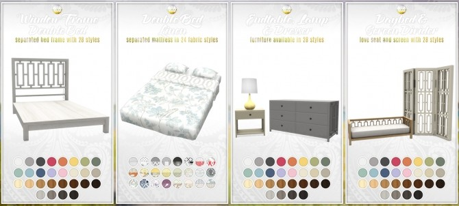 Bayside Furniture Set 20 new items at Simsational Designs