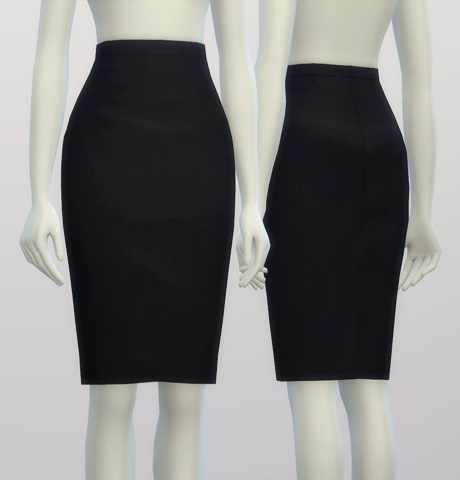 Basic pencil skirt at Rusty Nail  Sims 4 Updates