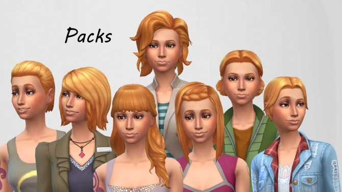Sunset Hair Colour Non Default By Jeeep200 At Mod The Sims