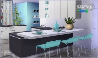 Bechamel kitchen at SIMcredible! Designs 4 » Sims 4 Updates