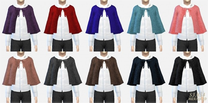 Boy woolen shorts  cape coat at Marigold  Sims 4 Updates