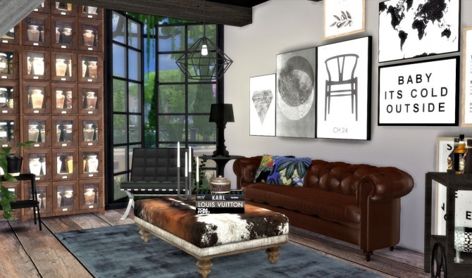 City living room interior at Hvikis  Sims 4 Updates