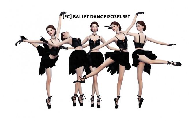 BALLET DANCE POSES SET at Flower Chamber  Sims 4 Updates