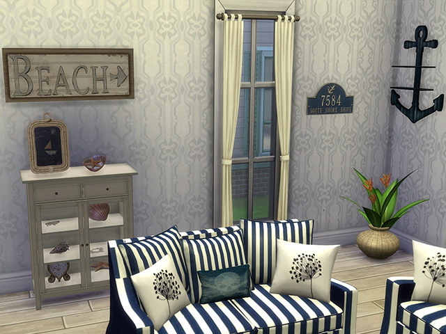 Coastal Paradise Living by Kresten 22 at Sims Fans  Sims