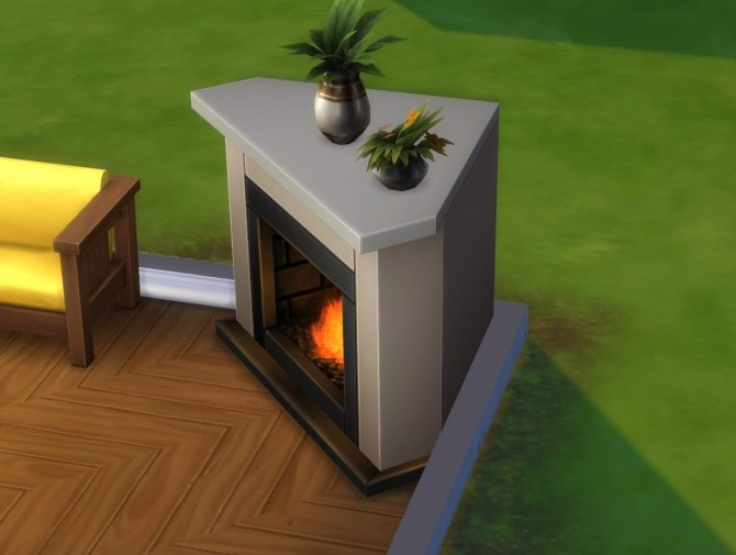 Diagonal Heat Seeker Fireplace  Mesh Override by plasticbox at Mod The Sims  Sims 4 Updates