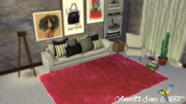 Fluffy Rugs at Annetts Sims 4 Welt  Sims 4 Updates