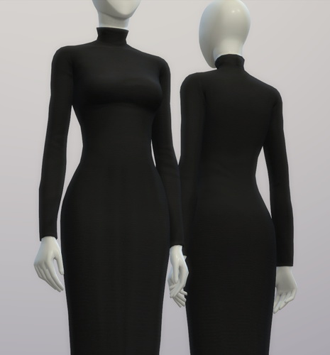 Turtleneck sweater dress at Rusty Nail  Sims 4 Updates