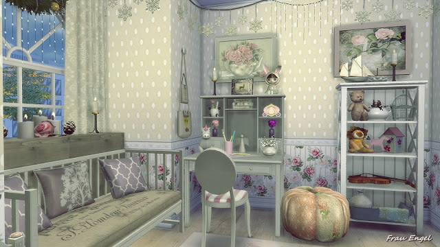 The Winters Tale Shabby Chic Cottage at Frau Engel  Sims
