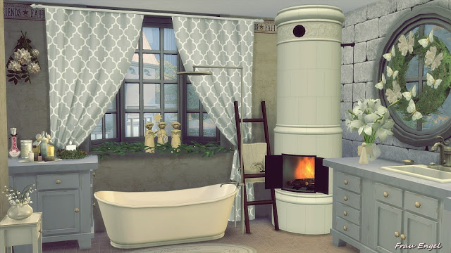 The Winters Tale Shabby Chic Cottage at Frau Engel  Sims 4 Updates