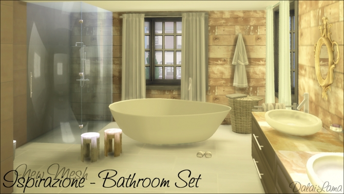Ispirazione Bathroom Set by DalaiLama at The Sims Lover