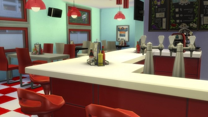 50s Themed Diner by clw8 at Mod The Sims  Sims 4 Updates
