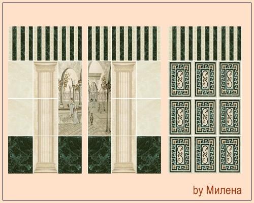 Classic ceramic tiles at Sims by Mulena  Sims 4 Updates