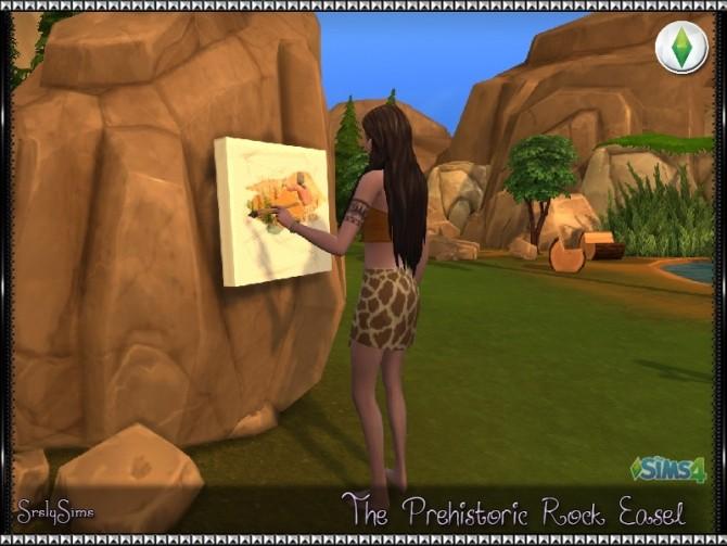 Prehistoric Rock Easel at SrslySims  Sims 4 Updates