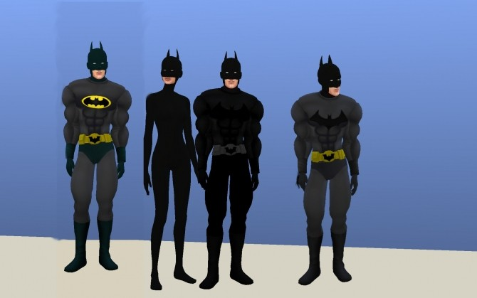 Batman costume by g1g2 at Mod The Sims  Sims 4 Updates
