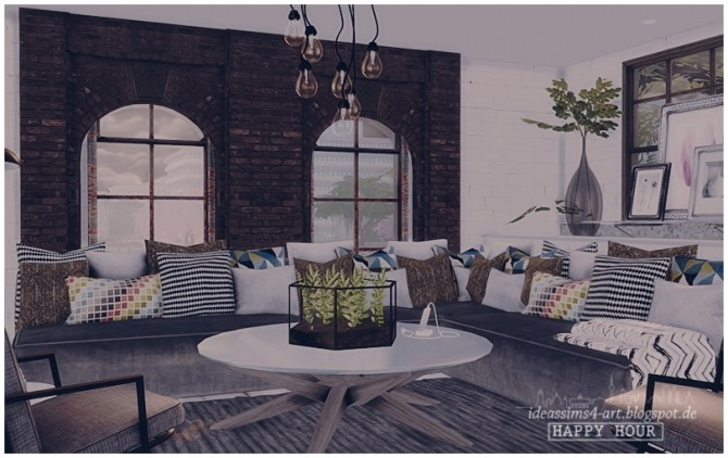 HappyHour Industrial Style House At Ideassims4 Art Sims