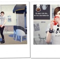 Japanese Living Room Set Floor Tiles Design Drinking Pose N1 At Kiru » Sims 4 Updates
