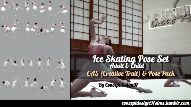 Ice Skating Pose Set by ConceptDesign97 at SimsWorkshop  Sims 4 Updates
