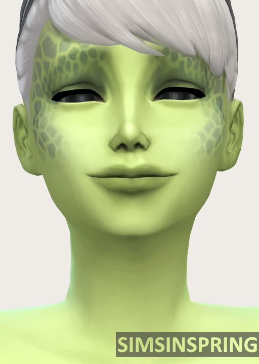 DReplacement Alien Skintones by simsinspring at Mod The