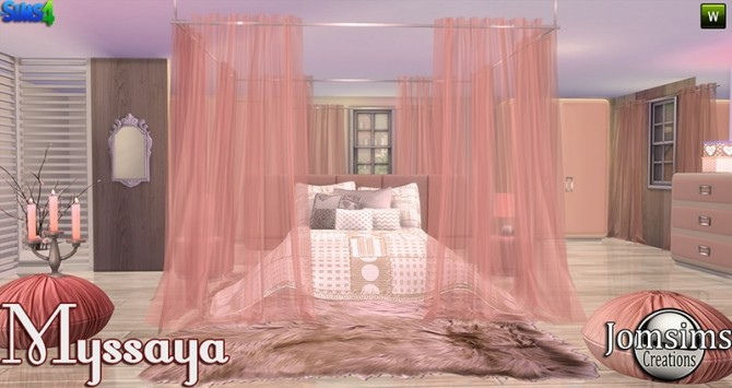 Missaya bedroom at Jomsims Creations  Sims 4 Updates