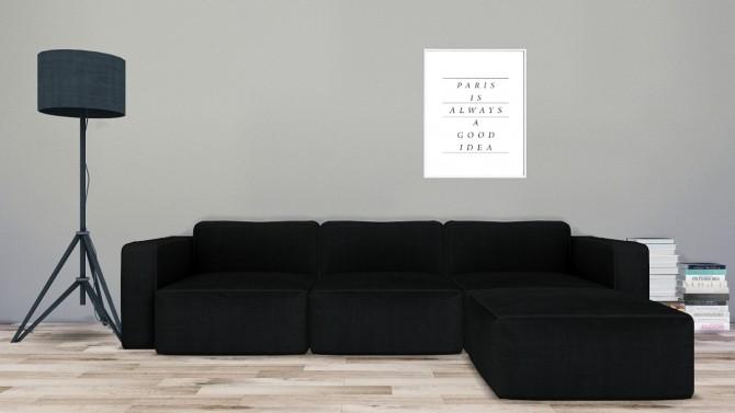 ikea white leather chair folding tripod with back entertainment set #3 & antimoni sofa and niobium lamp recolors at mxims » sims 4 updates