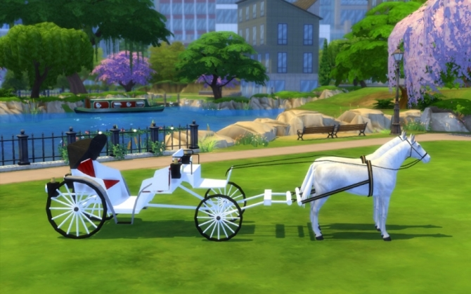 Wedding carriage by Maman Gateau at Sims Artists  Sims 4
