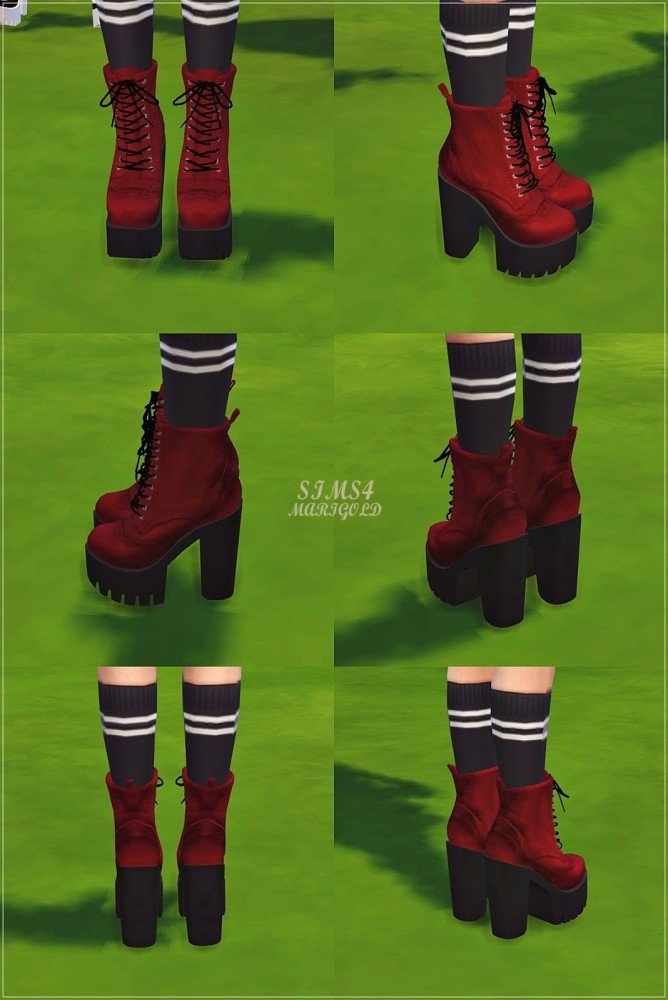 Chunky Combat Boots at Marigold  Sims 4 Updates