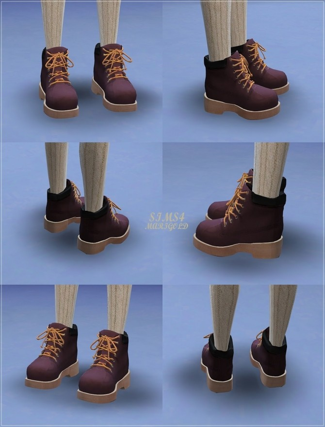 Female Hiking Boots at Marigold  Sims 4 Updates