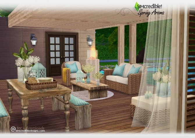 Spring Aroma patio at SIMcredible Designs 4  Sims 4 Updates