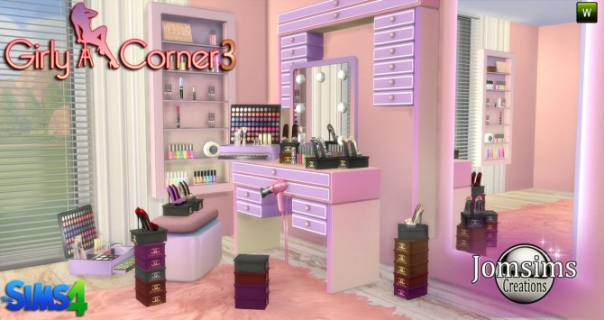 Girly corner 3 set at Jomsims Creations  Sims 4 Updates