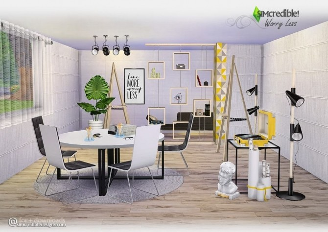 kitchen table and chair set lowes cabinet sale worry less at simcredible! designs 4 » sims updates