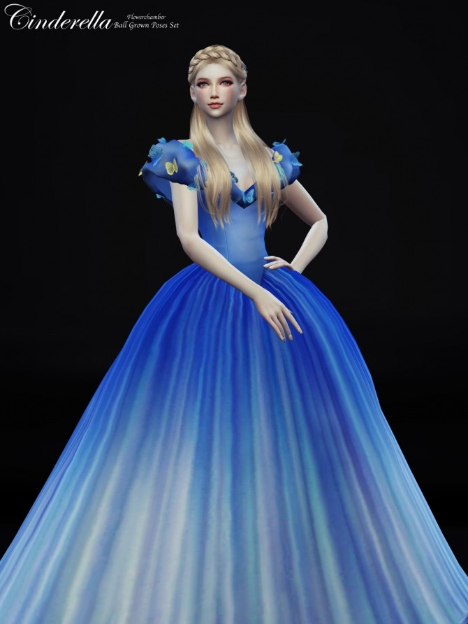Cinderella Ball Grown Poses Set at Flower Chamber  Sims 4 Updates