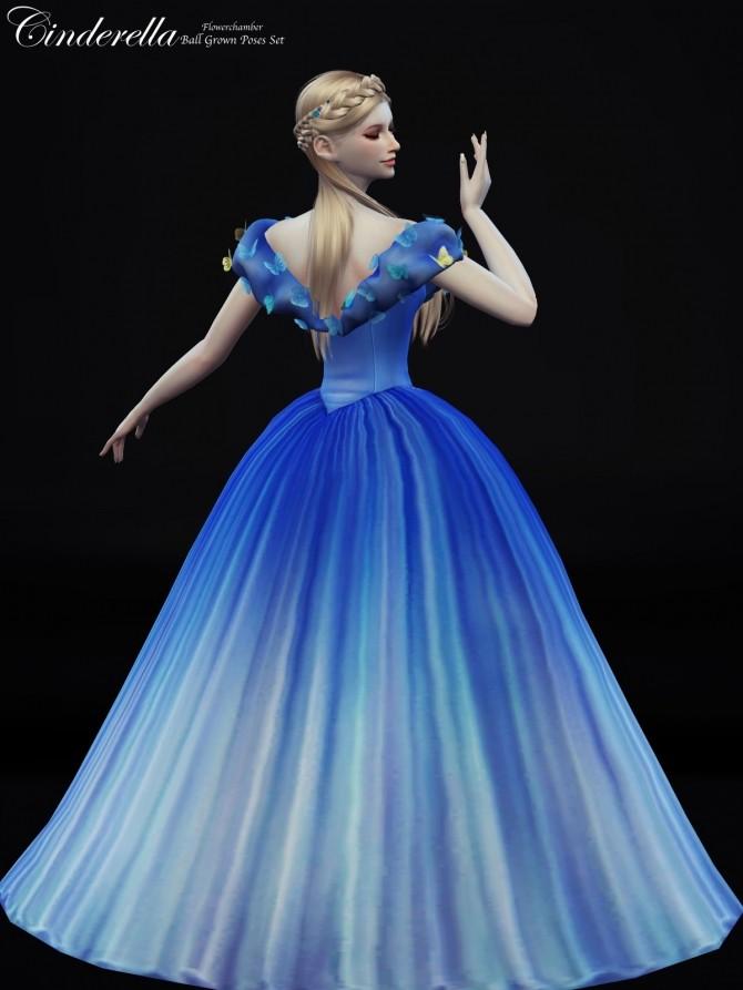 Cinderella Ball Grown Poses Set at Flower Chamber  Sims 4