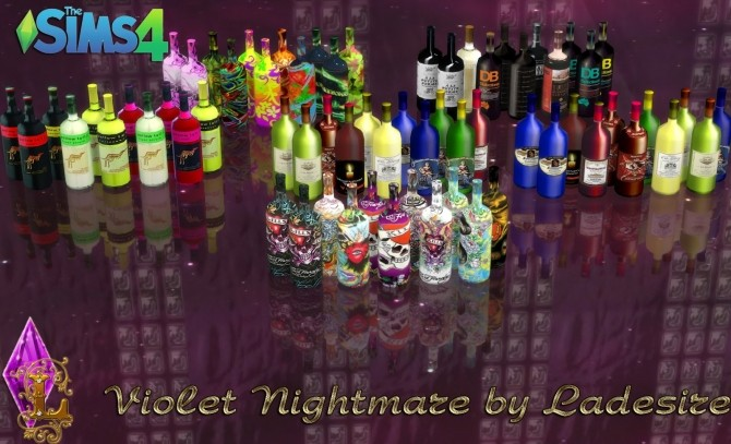 Violet Nightmare set 72 items at Ladesire  Sims 4 Updates