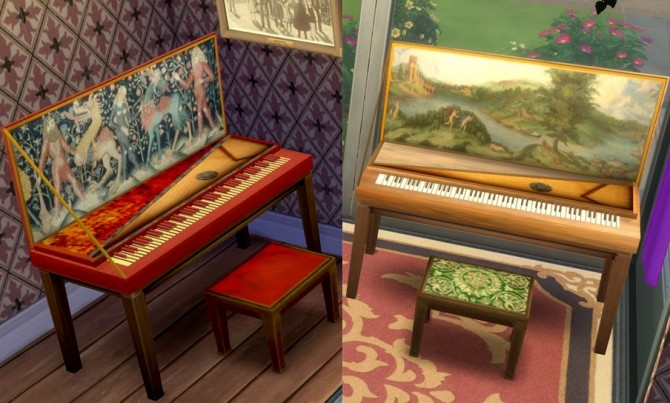 MedievalRenaissance Style Piano by Esmeralda at Mod The