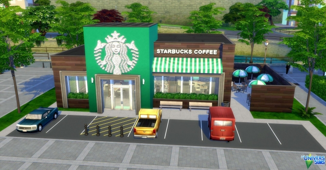 Starbucks Coffee by audrcami at LUniverSims  Sims 4 Updates
