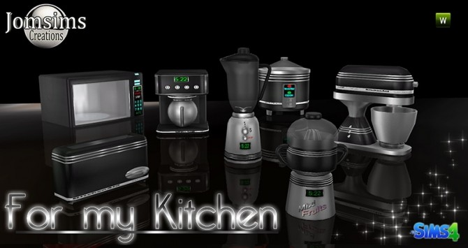 For my kitchen set at Jomsims Creations  Sims 4 Updates