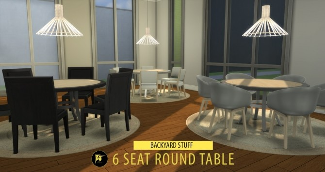 6 Seat Round Table At Jorgha Haq Sims 4 Updates