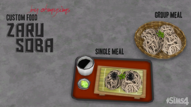 kitchen pictures for walls outdoor accessories sale zaru soba by ohmysims at mod the sims » 4 updates