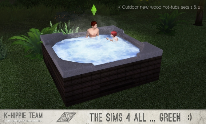 K Outdoor New Wood Hot Tubs 2x7 sets 1  2 at Khippie