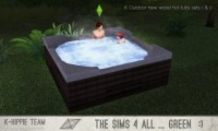 K Outdoor New Wood Hot Tubs 2x7 sets 1 & 2 at K-hippie ...