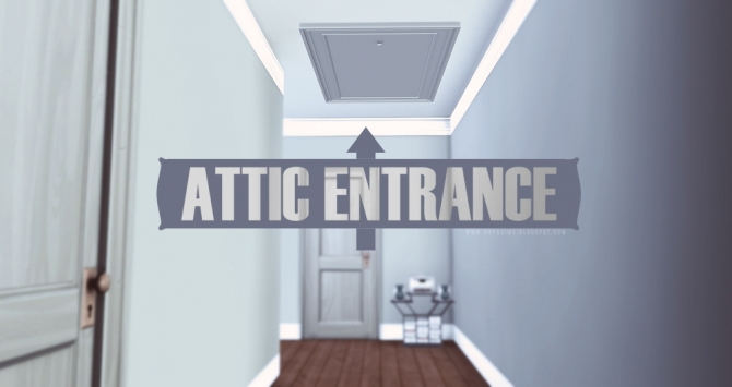 Attic Entrance Door at Onyx Sims  Sims 4 Updates