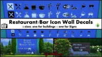 Restaurant/Bar Icon Wall Decals Pack by Bakie at Mod The ...