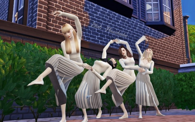 Rituals 3 sets of group poses at Flower Chamber  Sims 4