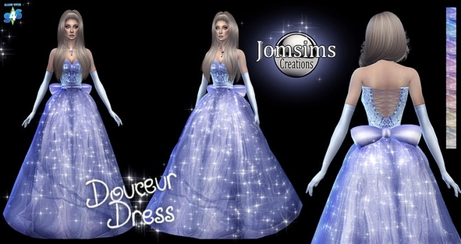 Douceur princess dress at Jomsims Creations  Sims 4 Updates